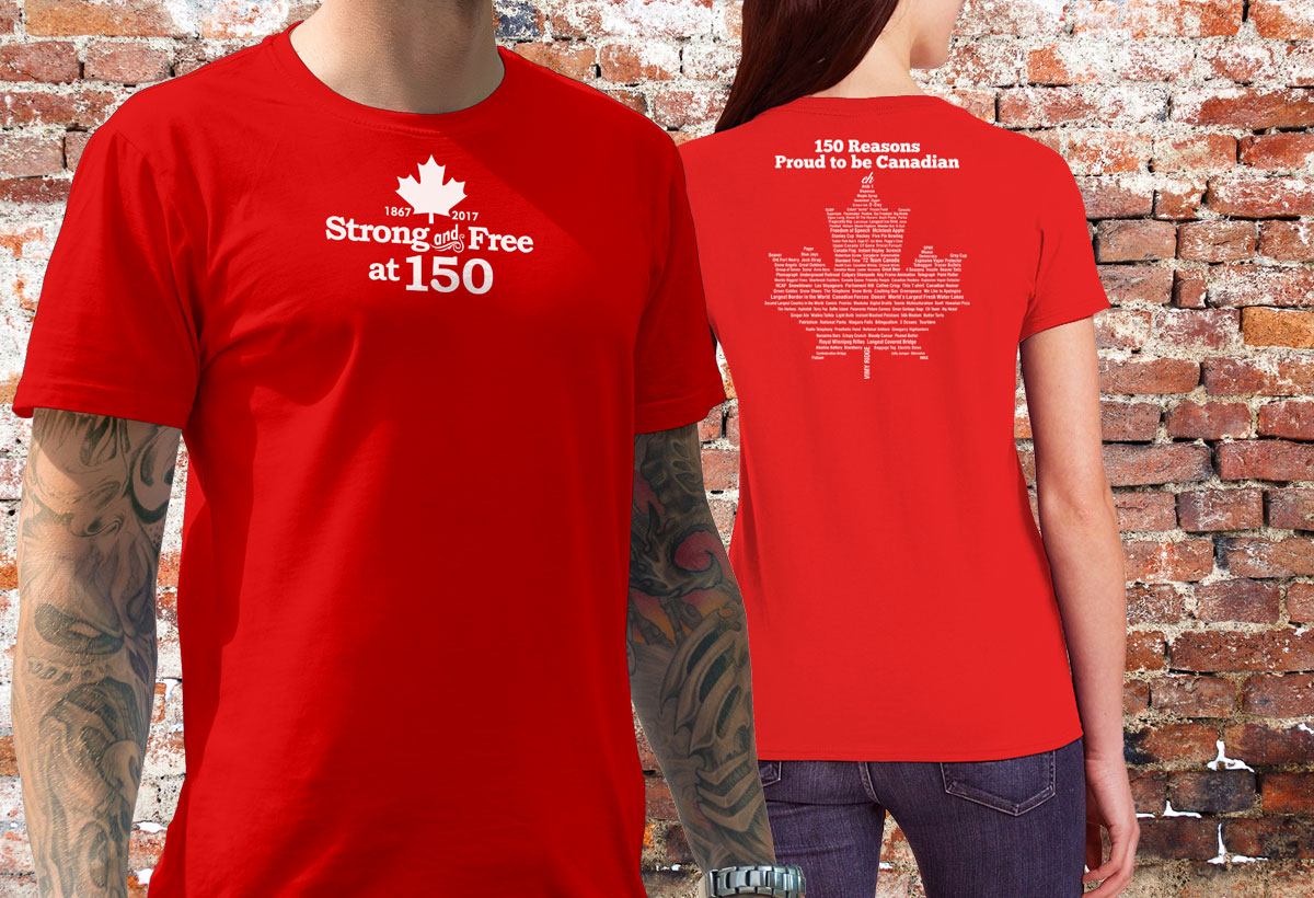 150 Reasons Proud To Be Canadian Tshirts