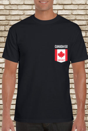 Pocket Canada Flag Tshirt